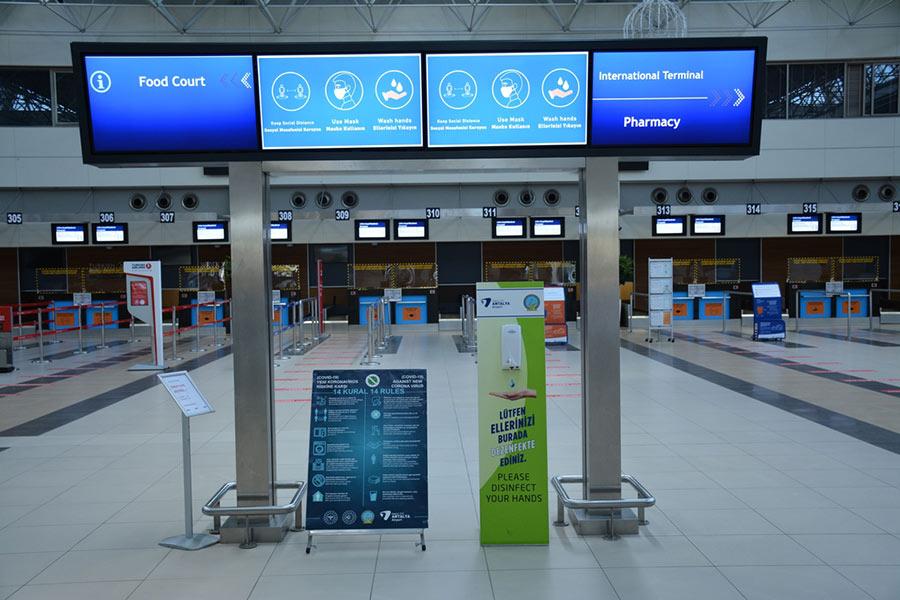 Аэропорт Анталии и Ковид 19
